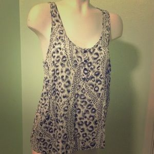 Black and white leopard print racer back tank